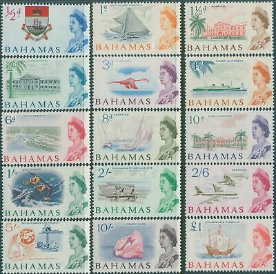 Bahamas 1965 SG247-261 QEII Scenes set MNH