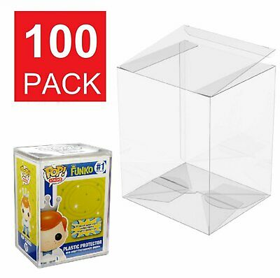 100 Collectible Funko Pop Protector 4 inch Vinyl Box Crystal Clear Acid Free Bobbleheads, Nodders