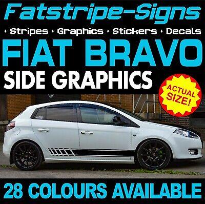 FIAT BRAVO GRAPHICS STRIPES STICKERS DECALS CAR VINYL 1.4 1.6 2.0 SPORT ABARTH na sprzedaż  Wysyłka do Poland
