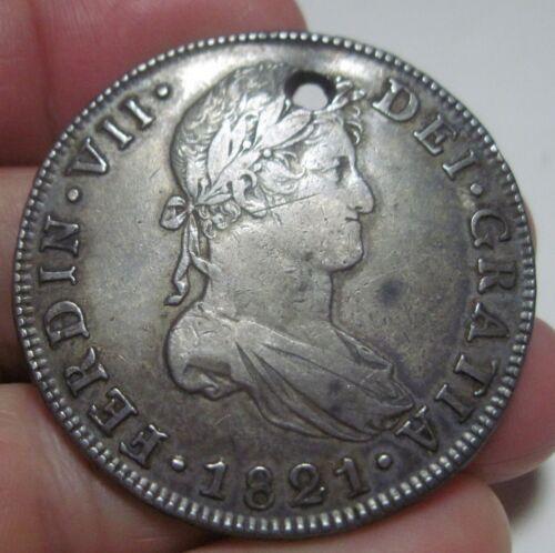 1821 NG-M (GUATEMALA) 8 REALES (SILVER) --very scarce----nice toned---