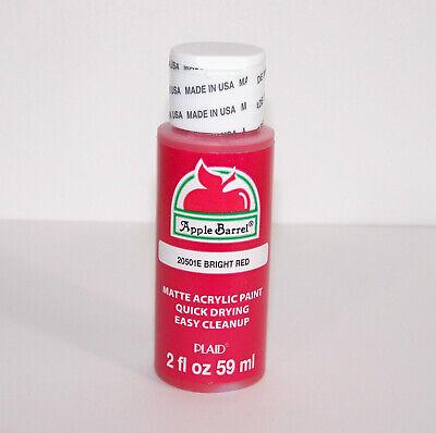 Plaid Apple Barrel 20501E 2oz Bright Red Matte Acrylic Paint