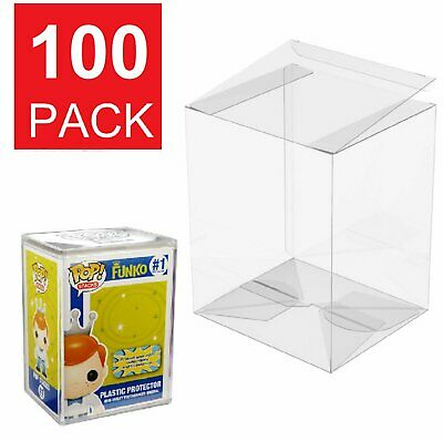 Lot 5 25 50 100 Collectibles Funko Pop Protector Case for 4″ inch Vinyl Figures Bobbleheads, Nodders