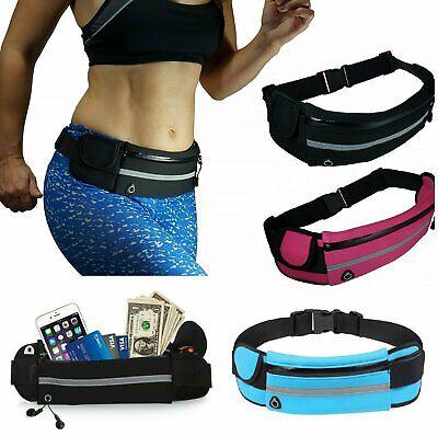 Running Bum Bag Fanny Pack Travel Waist Money Belt Zip Hiking Pouch Wallet Bags