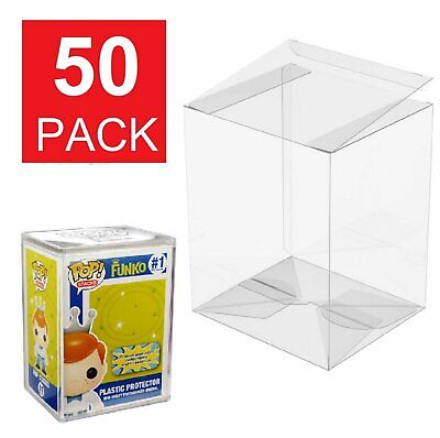 50 Funko POP Acid-Free Crystal Clear Protector case For 4 inch  Vinyls Figures Bobbleheads, Nodders