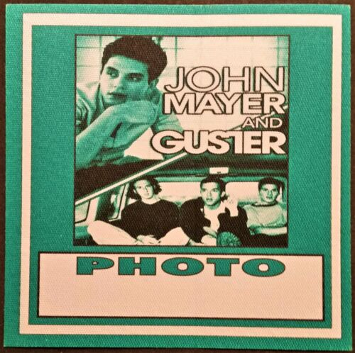 ******* JOHN MAYER ******* & * GUSTER * SATIN BACKSTAGE PASS - PHOTO - 2003 TOUR