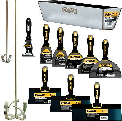 Dewalt Hand Tool Set Premium Carbonblue Steel Taping Putty Knives Mixers Pan