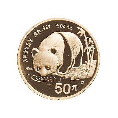 1987 - 1/2oz Chinese Gold Panda .999 (in Plastic Capsule)