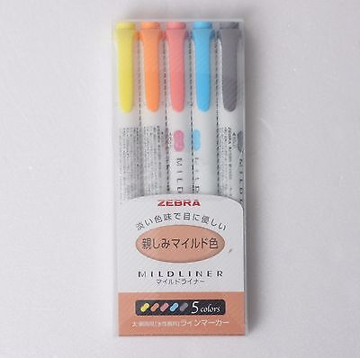 Sale Zebra Mildliner Soft Double-sided Highlighter Pen 5 Color Set Wkt7-n-5c