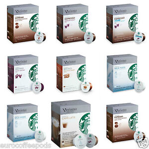 genuine starbucks verismo coffee 12 pods seven flavours to choose from ebay. Black Bedroom Furniture Sets. Home Design Ideas