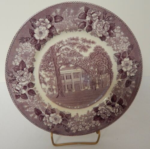 Jonroth Mulberry Purple Transferware Historical Souvenir Plate The Hermitage