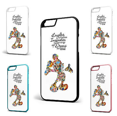 Walt Disney Quote Mickey Mouse iPhone 7+ 7 6s+ 6 6s 5c 5 5s 4s SE Case Fan Art