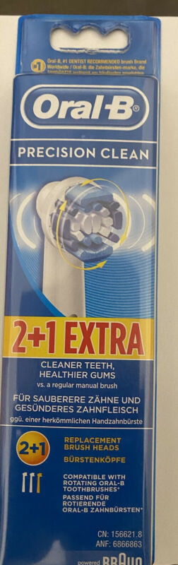 Braun+Oral-B+PRECISION+CLEAN+Toothbrush+Replacement+Brush+Heads+-+3+Pack