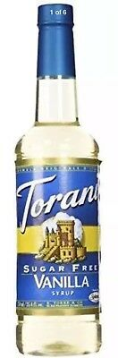 Torani SUGAR FREE VANILLA Syrup 0 Calories Coffee Tea Latte Frappe SPLENDA