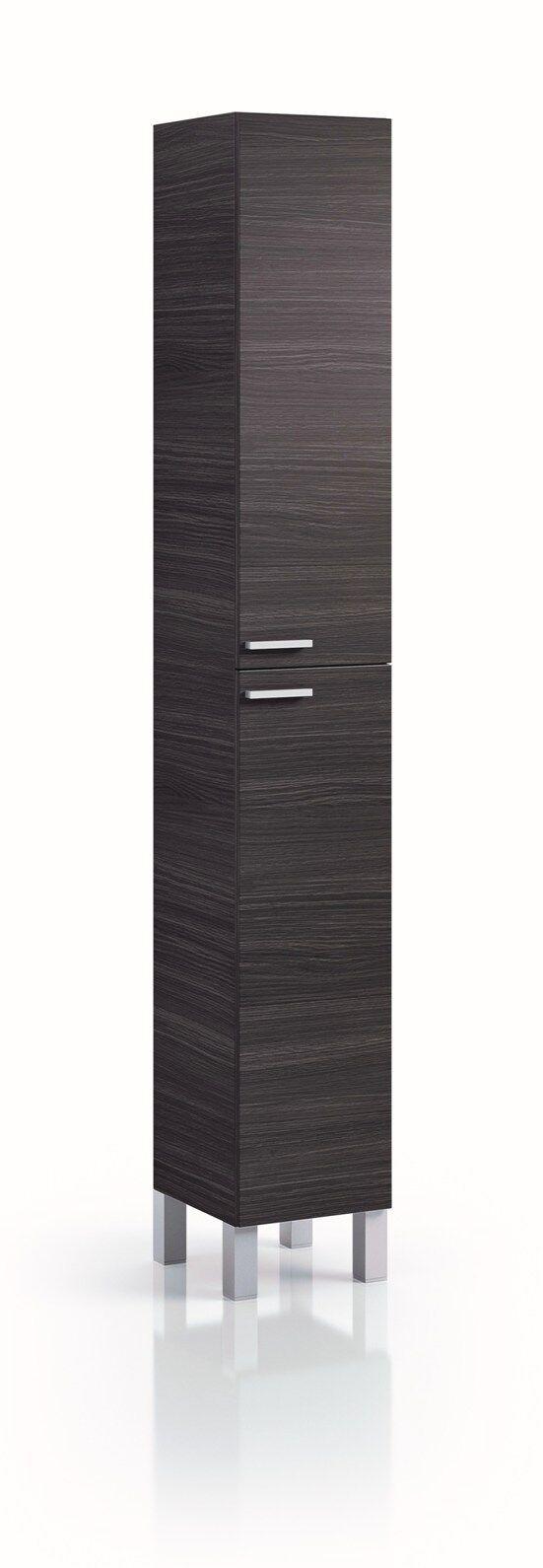 Koncept Tall Narrow Bathroom Cupboard Storage Cabinet Soft Gloss White Ash Grey Ebay