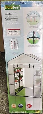 Walk In Greenhouse Garden Grow House Plant Shelving Clear PVC Outdoor Flowers
