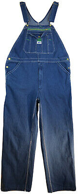 Vintage Overalls & Jumpsuits Liberty Denim Jean Carpenter Bib Overalls Workwear Farm Ranch Men's Size 38x30 $38.99 AT vintagedancer.com