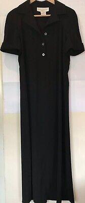 JONES NEW YORK Black Empire Waist Short Sleeve midi Shirt Dress Size US 4 UK8/10