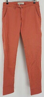 New Briglia 1949 Men's 32 x 32 Slim Fit Pink Cotton Blend Flat Front Chino Pants