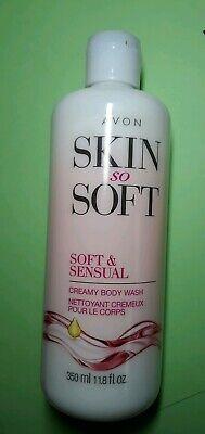new Avon SSS Skin So Soft creamy shower body wash - Soft and Sensual - 11.8 (Avon Skin So Soft Soft And Sensual)