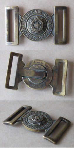 OLD MASSIVE BRASS ARMY BELT BUCKLE / GREAT BRITAIN