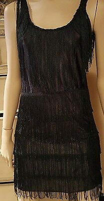 California Costume Collections High End Fashion Flapper Adult S Black Fringe - High End Adult Costumes