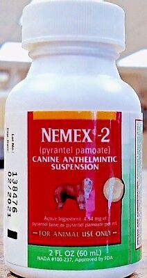 Liquid Dog Wormer - Nemex-2 Oral Liquid Dog Wormer 60 ml Pyrantel Pamoate