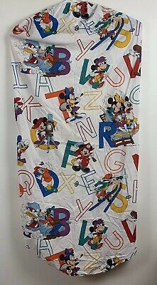 - Vintage Dundee Disney Mickey Mouse Toddler Crib Sheet Fitted Top Sheet