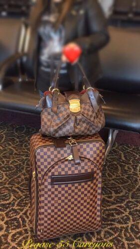 Authentic Louis Vuitton Pegase 55 Damier Suitcase W/ Garment Cover Bag - $1,695.00