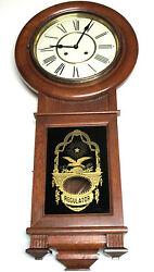 CLASSIC SOLID OAK REGULATOR PENDULUM CLOCK