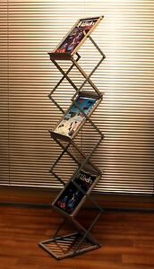 A4 Portable Display Brochure Stand Magazine Rack Holder