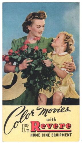 """1941 Color Sales Brochure """"Revere Camera Company 8mm Movie Cameras & Projectors"""""""