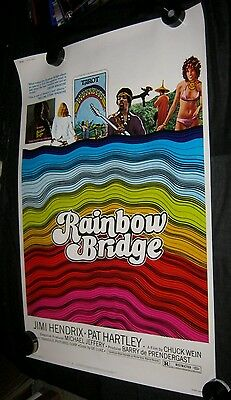 "Original RAINBOW BRIDGE JIMI HENDRIX Rare 40"" x 60"" WOW L@@K NEAR MINT ROLLED"