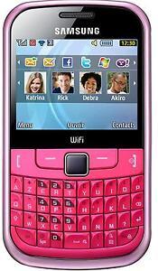 Samsung Ch@t GT-S3350 PINK UNLOCKED QUADBAND FULL KEYBOARD,WIFI,TEXTING PHONE