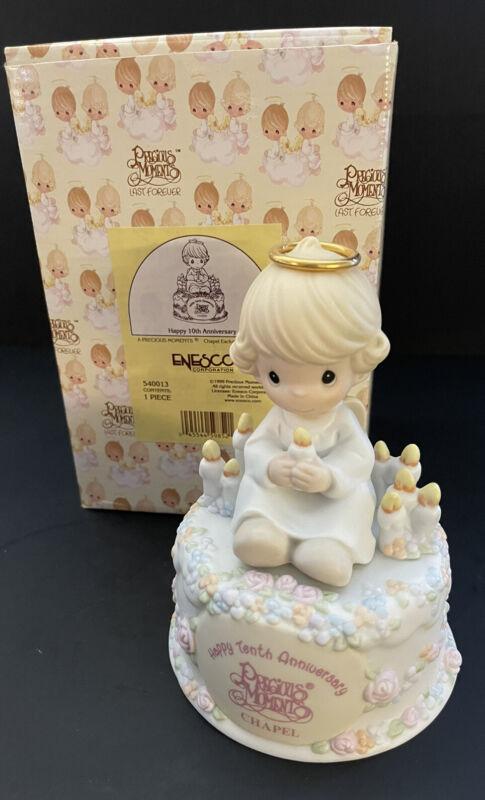 Precious Moments Ornament ~ Happy 10th Anniversary ~ Chapel Exclusive ~ 588040