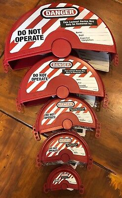 Master Lock Loto Gate Valve Lockout Cover 485-includes 480-484