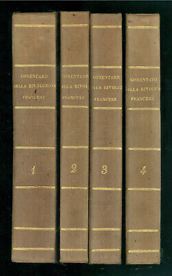 PAPI LAZZARO COMMENTARII RIVOLUZIONE FRANCESE BIBLIOTECA COMUNI ITALIANI 1853