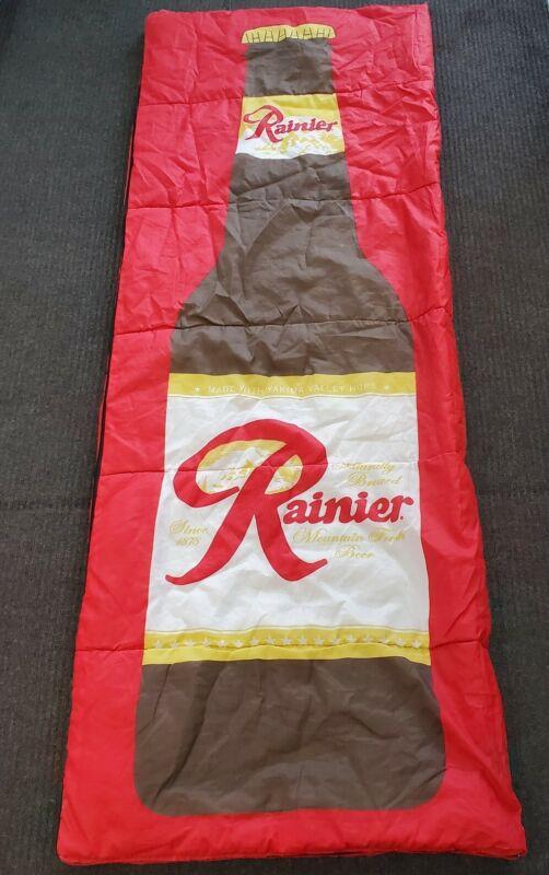 """Vintage Rare Rainier Beer Reversible Sleeping Bag 84"""" x 31"""" 🍺"""