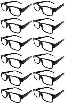 Reading Glasses[+3.50] 100 Black Plastic Frame  Wholesale Lot Reader Unisex 3.50