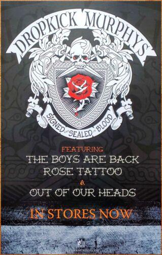 DROPICK MURPHYS Signed & Sealed In Blood RARE Tour Poster +FREE Rock Punk Poster