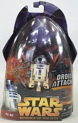 """Star Wars ROTS Revenge Of The Sith R2-D2 #7 Droid Attack 3.75"""" Figure 2005 New - Star Wars 7 Sith"""