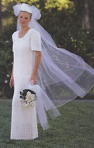 Crochet Pattern LADIES BRIDAL GOWN Wedding Dress Instructions