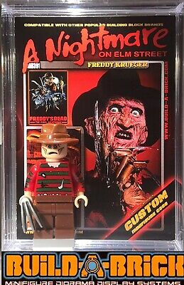 HORROR Freddy Krueger Custom Minifigure w/ Display Case &Stand 391 - Backyardigan Halloween Game