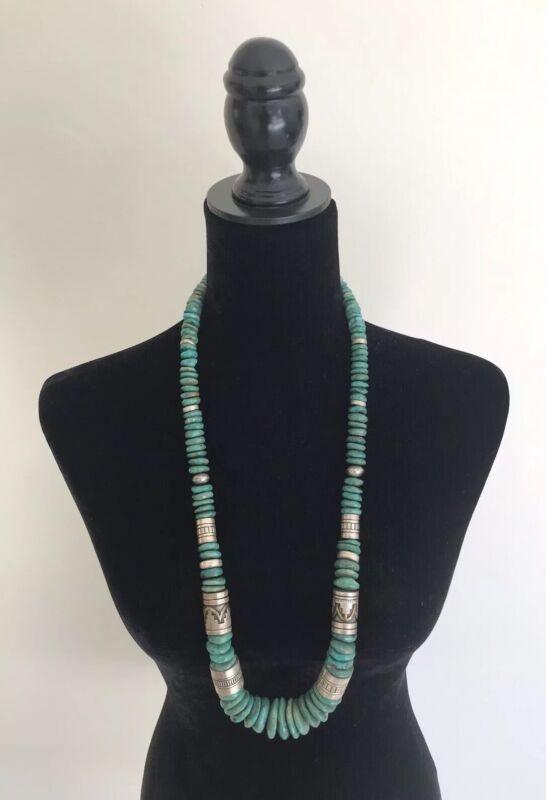 Vintage Tommy Singer Treasure Necklace Navajo Statement Necklace Sterling Silver