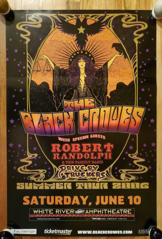 THE BLACK CROWES - 2006 Summer Tour Seattle Venue Poster PROMO ONLY!!