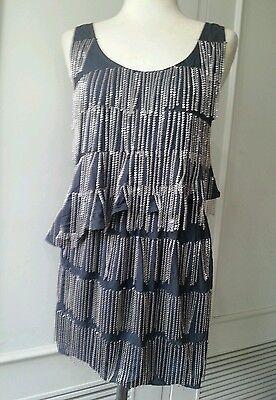 Blackheart asymmetrical chainmail metal fringe top tank skirt mini dress set S
