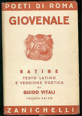 GIOVENALE LE SATIRE 2 VOLL. ZANICHELLI 1947