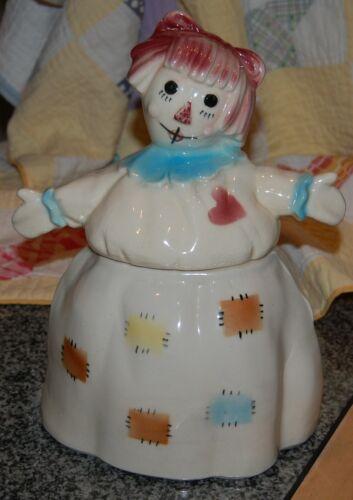 1956 Brush Pottery Co - Raggedy Ann Cookie Jar - Vintage Charmer!!