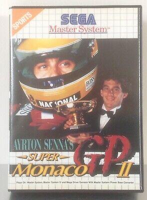 Sega Master System Ayrton Senna's Super Monaco GP 2 *** NO MANUAL ***
