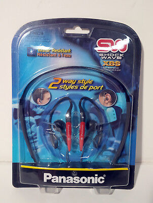 Panasonic RP-HX20R Red Super Lightweight Headphones with 2-Way Design