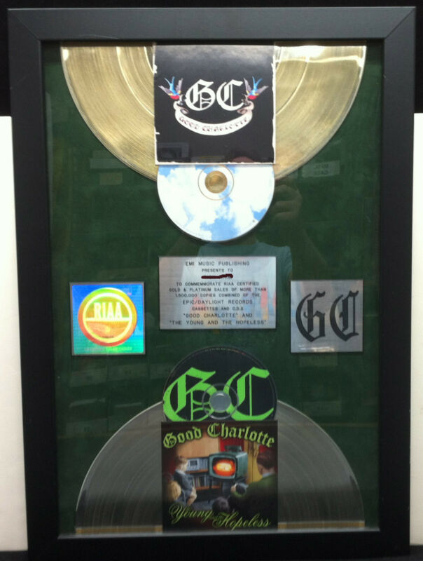 GOOD CHARLOTTE S/T & Young Hopeless RIAA Gold & Platinum Award Plaque